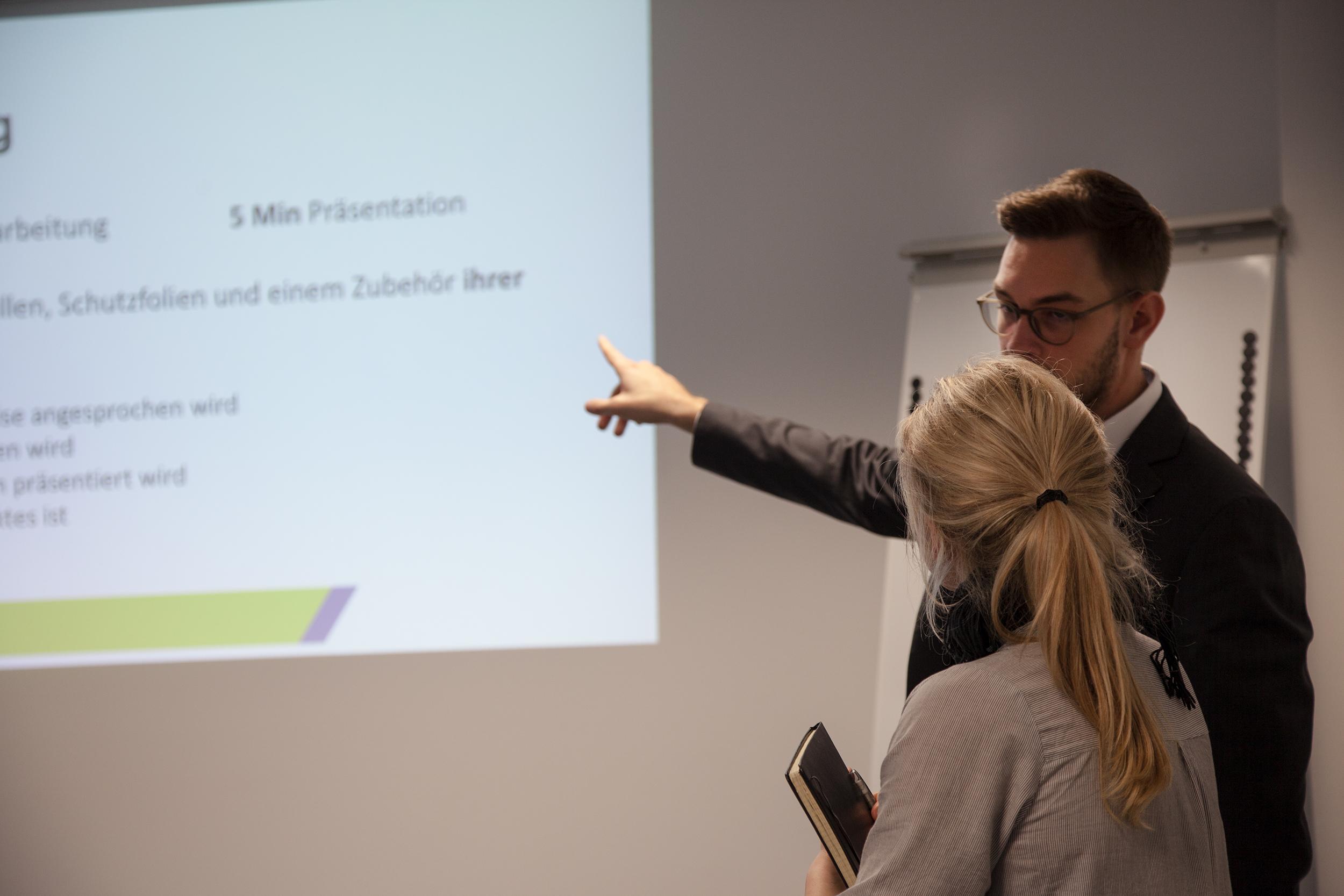 Verkaufscoach David Michler stand den Teilnehmern mit Tipps und Tricks zur Seite
